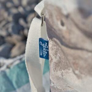 cotton zipped beach bag