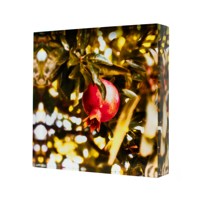 Acrylic-glass-photo-block-Pomegranate