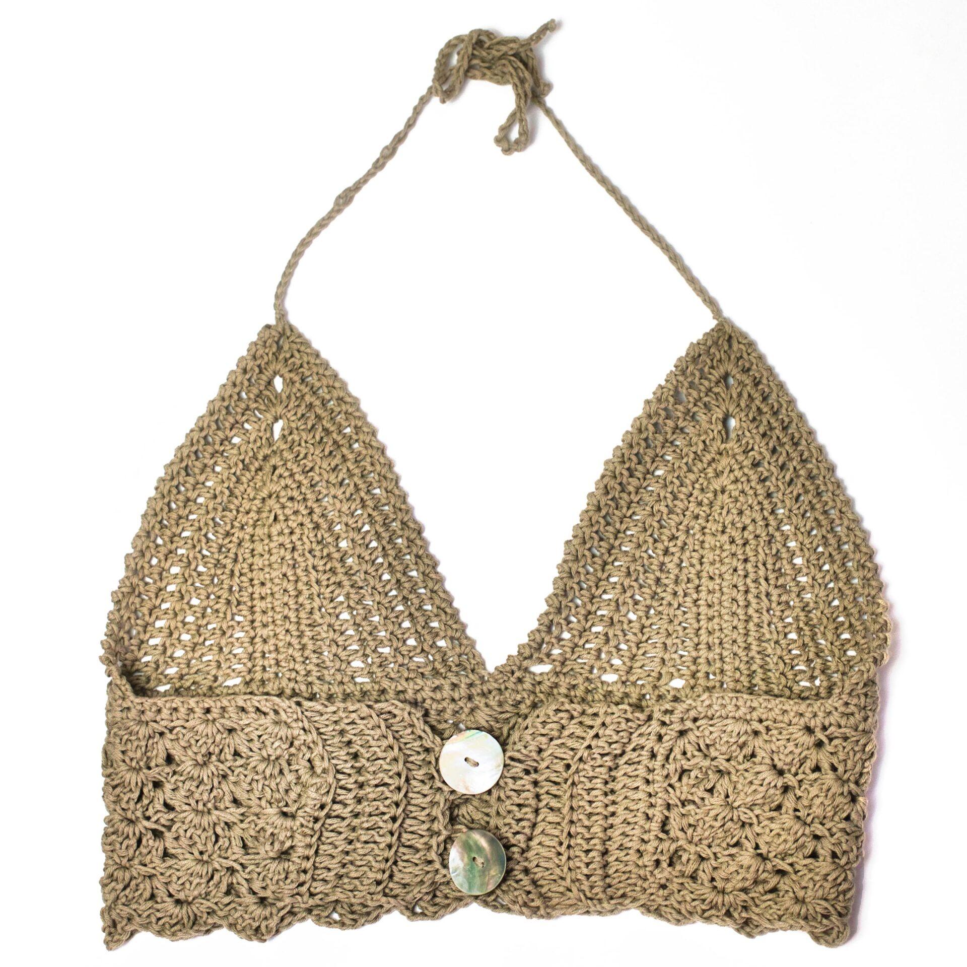Daphne bralette crochet free pattern back