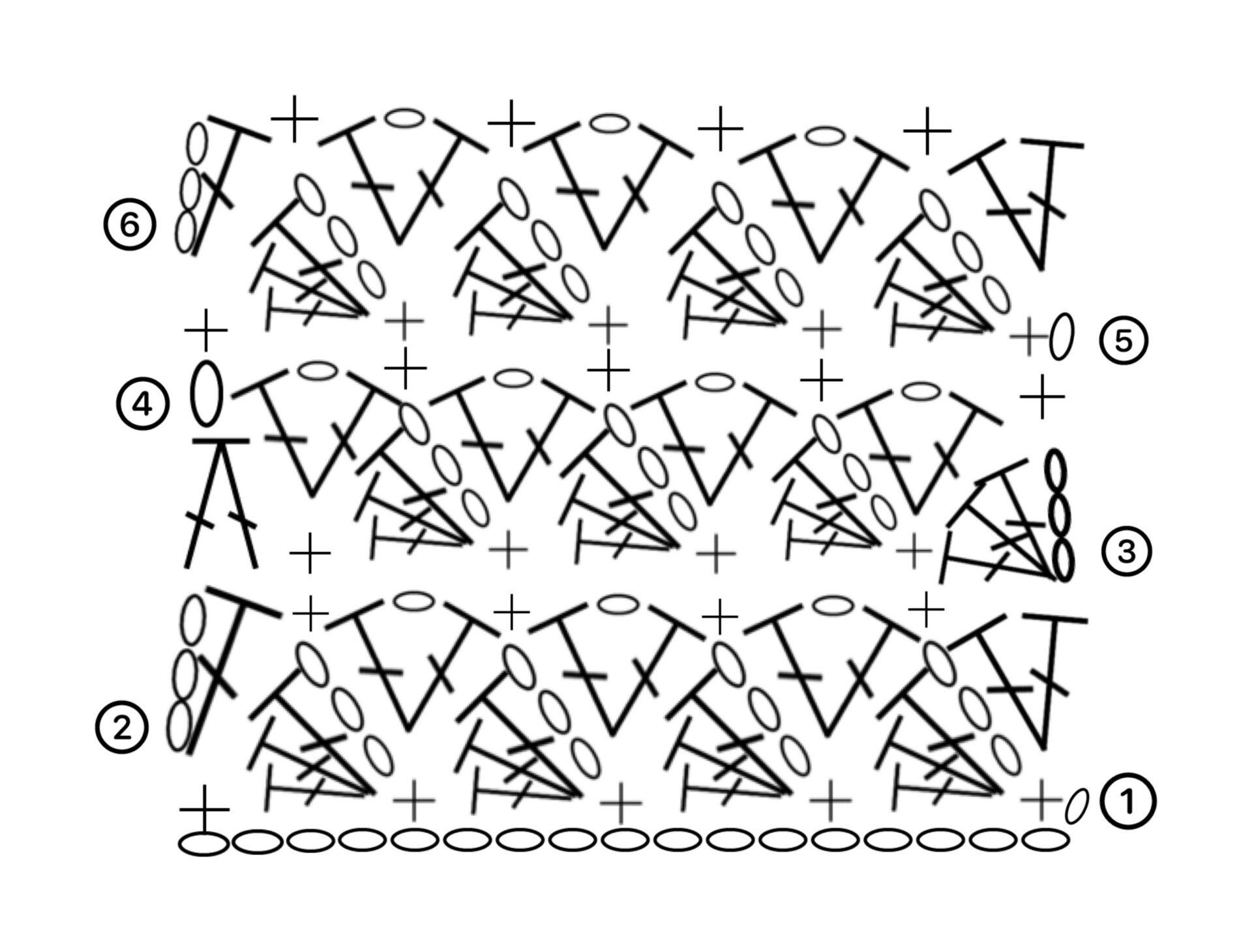 Flying shell stitch diagram