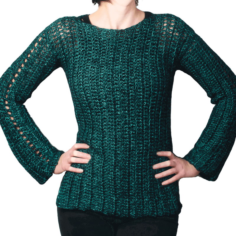 Crochet sweater DIY project pattern