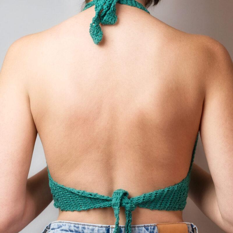 Crochet bralette Thetis back